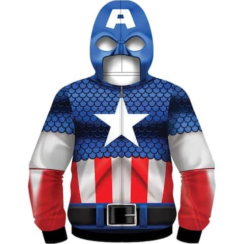 Captain America Men's Costume Hoodie