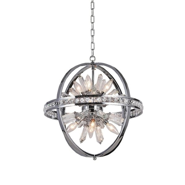 Spherical Orb Chandelier Lighting Chrome 8 Lights