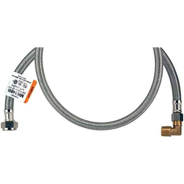 Certified Appliance Dw4812Ssbl Braided Stainless Steel Dishwasher Connector With Elbow (4Ft)