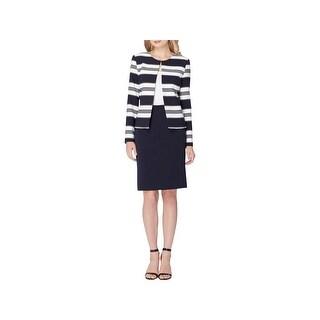 Tahari ASL Womens Skirt Suit 2PC Striped - 2