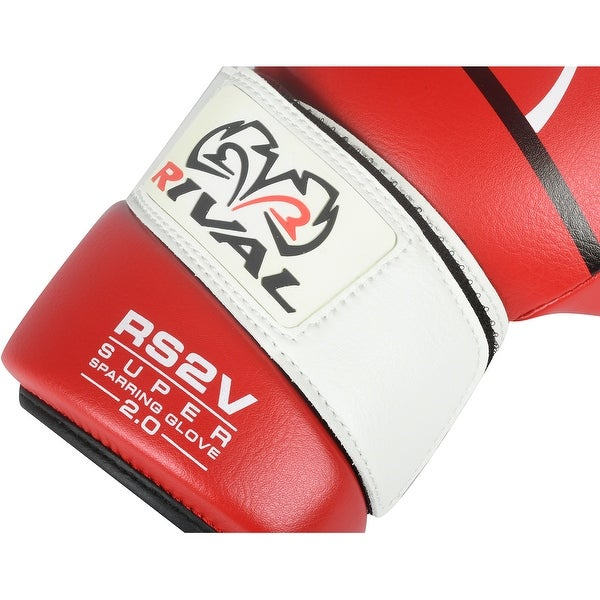 Blue Rival Boxing RS2V 2.0 Super Pro Hook and Loop Sparring Gloves