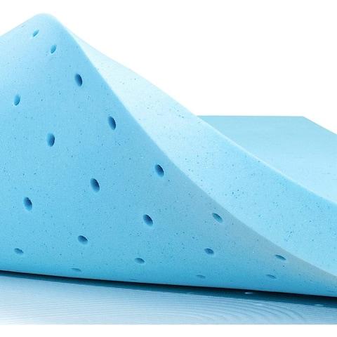 Subrtex Comfort Gel Infused Memory Foam Mattress Topper