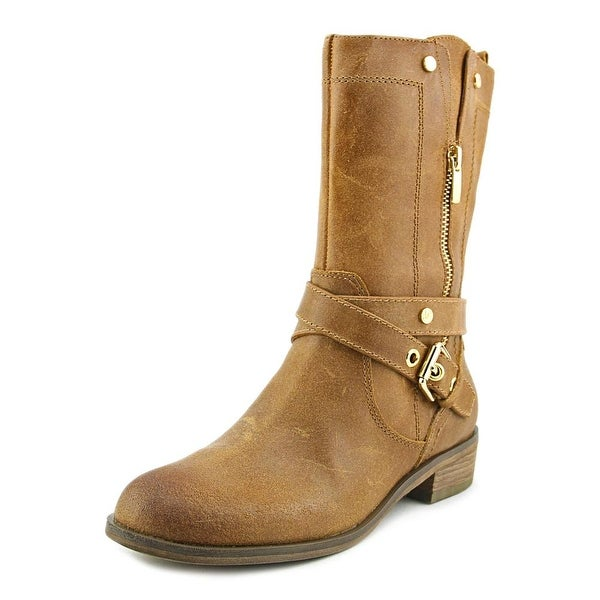 Marc Fisher Dolca Women Round Toe Leather Boot