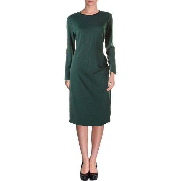 Anne Klein Womens Wear to Work Dress Ponte Gathered