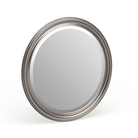 Allan Andrews George Round Nickel Wall Mirror - 36 x 36