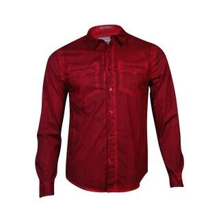 Guess Men's Button Down Laguna Shirt (Chateau Red, S) - S