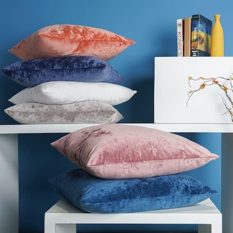 Crushed Velvet Throw Pillow 18x18- Freshmint
