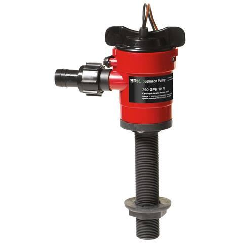 Johnson Pump Cartridge Aerator 750 GPH Straight Intake - 12V