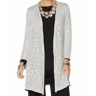 Marla Wynne NEW Gray Womens Size Medium M Reversible Duster Cardigan