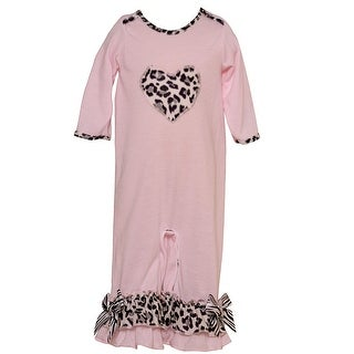 Laura Dare Baby Girls Pink Leopard Pattern Heart Detail Jumpsuit 9-18M