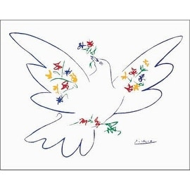 ''Dove of Peace - Blue'' by Pablo Picasso Huntington Graphics Art Print (22 x 28 in.)