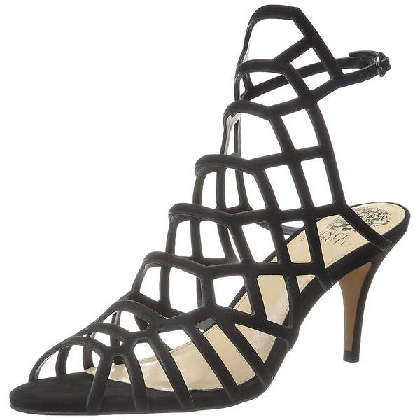 Vince Camuto Womens Paxton Leather Peep Toe Special Occasion Strappy Sandals