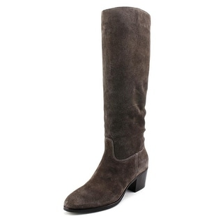 Sigerson Morrison Kayden Round Toe Leather Knee High Boot
