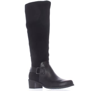 Aerosoles After Hours Riding Boots - Black Combo