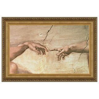 21.25X16.25 CREATION DETAIL DESIGN TOSCANO michelangelo painting religious