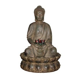 Tabletop Buddha Water Feature with LED light