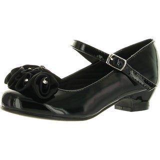 Lasonia Girls Mary Jane Shoes With Pretty Satin Rolled Rosettes Patent Leather