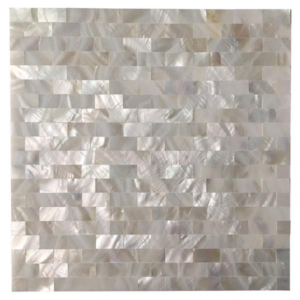 Art3d Mother of Pearl Shell Tile for Kitchen Backsplash/Bathroom White Rectangle Seamless 10-Pack. Opens flyout.