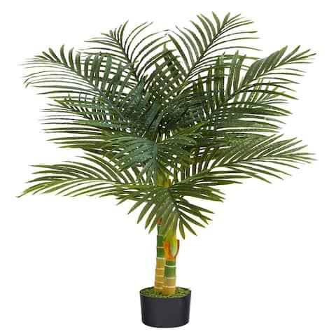 "4' Golden Cane Artificial Palm Tree - 6"""