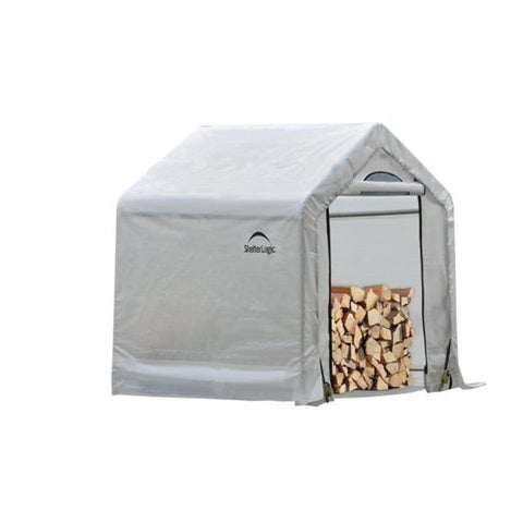 ShelterLogic 5 x 3 ft. 6 in. x 5 Seasoning Shed; 5.5oz Clear PE Cover