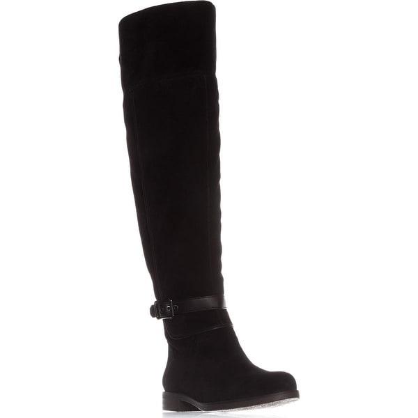 Franco Sarto Crimson Wide Calf Riding Boots, Black
