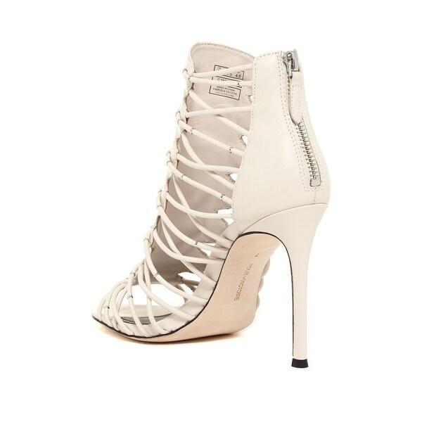 Pour La Victoire Womens Elaina Leather Open Toe Casual Strappy Sandals