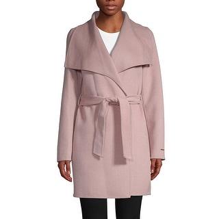 Link to T Tahari Powder Pink Lightweight Wool Wrap Coat Jacket Similar Items in Women's Outerwear