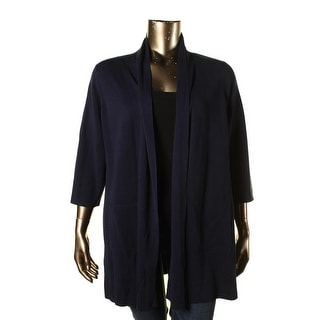 Eileen Fisher Womens Plus Woman Silk Open Cardigan Sweater - 2X