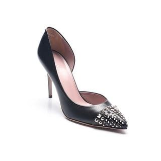 Gucci Women's Leather Stud Detail Pumps Black