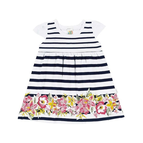 Baby Girl Dress Floral Striped Dress Infants Pulla Bulla Sizes 3-12 Months