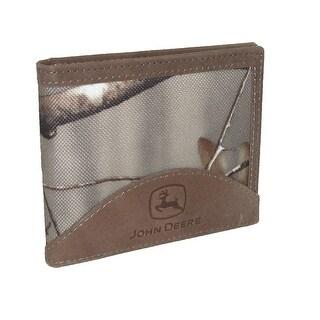 John Deere Men's Realtree Nylon and Leather Billfold Wallet - One size
