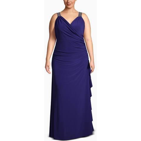 Betsy & Adam Womens Plus Evening Dress Sleeveless Formal