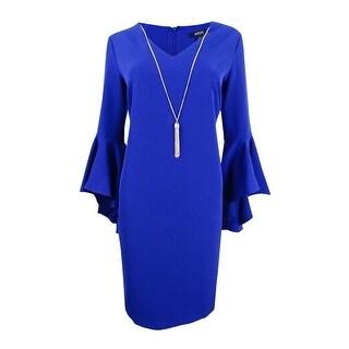MSK Women's Embellished Bell-Sleeve Dress - INDIGO