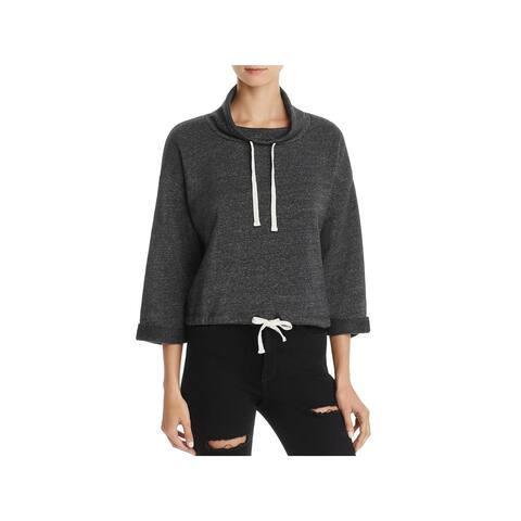 Alternative Apparel Womens Sweatshirt Heathered Funnel Neck