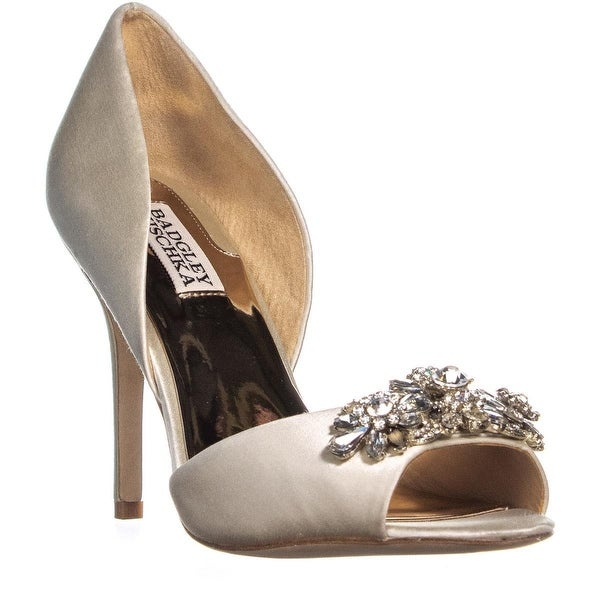 86300045cb1e Shop Badgley Mischka Giana II Jeweled Peep Toe D Orsay Pumps