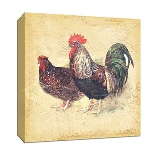 "PTM Images 9-153129  PTM Canvas Collection 12"" x 12"" - ""Rooster I"" Giclee Roosters Art Print on Canvas"