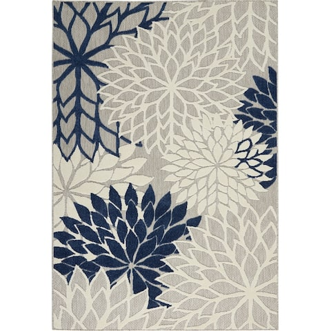Nourison Aloha Floral Abstract Indoor Outdoor Area Rug
