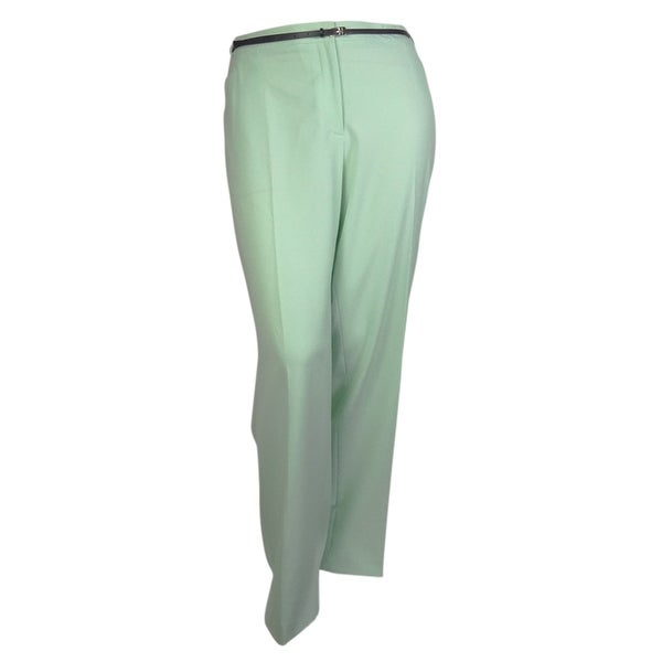 Calvin Klein Women's Belted Straight Pocketed Modern Pant - mint