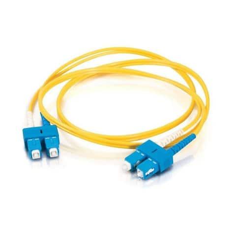 Axion LCSCSD9Y-5M-AX Axiom Fiber Optic Duplex Cable - Fiber Optic for Network Device - 16.40 ft - 2 x LC Male Network - 2 x SC