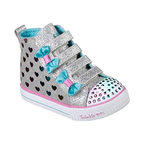 Skechers Kids Girls' Shuffle LITE-Fancy Flutters Sneaker Pink/Multi 7 Medium US Toddler
