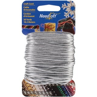Needloft Novelty Craft Cord 20yd-Solid Silver