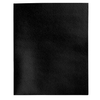 School Smart 2 Pocket Folder with Fasteners, Black, Pack of 25
