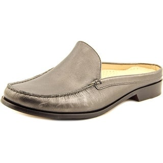 Cole Haan Ryann Mule Women Round Toe Leather Silver Mules