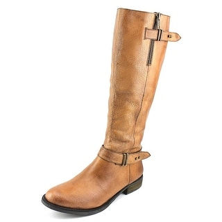 Steve Madden Alyy Women Round Toe Leather Tan Knee High Boot