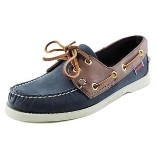 Sebago Spinnaker Women Moc Toe Leather Blue Boat Shoe