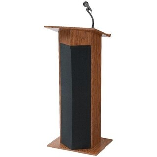 Oklahoma Sound 111PLS-MO Floor Lectern- Power Plus-Medium Oak
