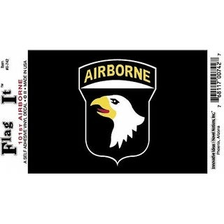 "101st Airborne Division Car Decal Sticker (Pack of 2 - Black - 3.25"" x 4.75"")"