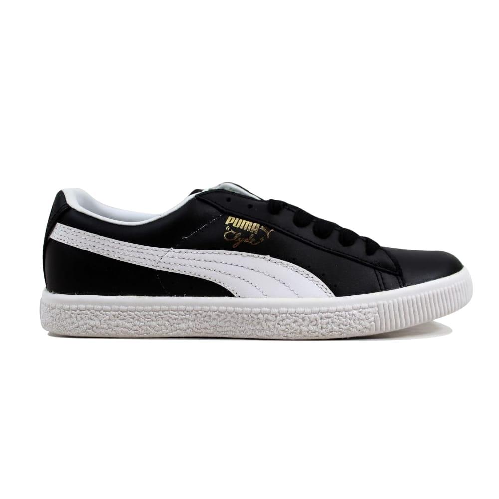 best loved 9dff3 6ba36 Puma Men's Clyde Leather FS Black/White 352773 02 Size 6