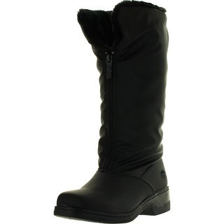 Totes Womens Cynthia Winter Waterproof Snow Boots - Black