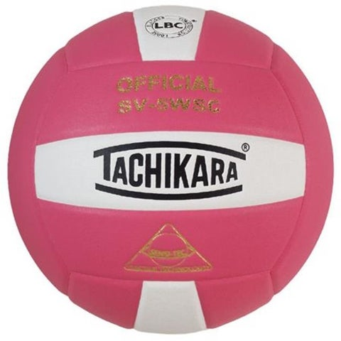 Tachikara Sensi-Tec Composite Volleyball - Pink & White